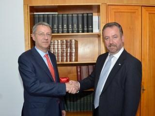 Ministrul George Ciamba cu dr. Bernd Fabritius / foto: MAE