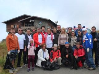Consiliul Județean Sibiu se mobilizează la Bâlea Lac de Ziua Națională de Curățenie