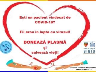 Apel Spitalul de Urgență: Avem aproape 400 de pacienți vindecați. 5 au donat plasmă