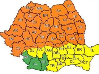 Sibiul, vizat de un nou cod portocaliu de vreme rea. Anunțul meteorologilor