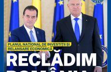 """Mesajul deputatului Neagu despre Planul Național de Investiții și relansare economica """"Reclădim Romania"""""""