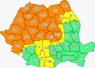 Alertă meteo de fenomene EXTREME: Cod portocaliu de furtuni și grindină la Sibiu
