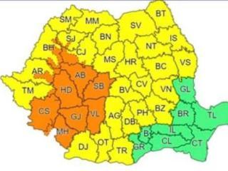 Alertă meteo. Cod Portocaliu de ploi torențiale și vijelii în Sibiu