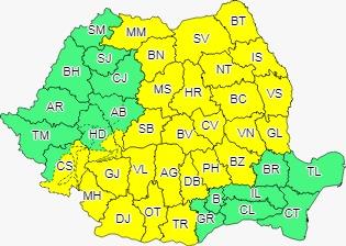 Vremea în Sibiu: Cod galben de ploi până mâine