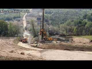 VIDEO: În ce stadiu a ajuns construcția lotului Sibiu – Boița, parte a autostrăzii Sibiu – Pitești