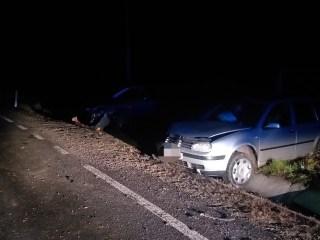 FOTO: Accident rutier la Laslea. O mașină a intrat în plin într-un alt autoturism