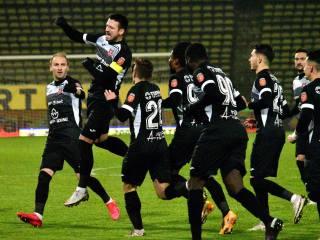 Răzvan Dâlbea a marcat atât la Mediaș, cât și la Pitești, de fiecare dată din penalti / foto: FC Hermannstadt