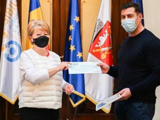 Sportivul Marcel Manea, premiat de Primăria Sibiu pentru rezultate excelente