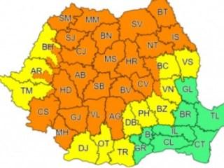 Avertizare COD PORTOCALIU de furtuni și vijelii în Sibiu