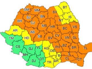 Avertizări meteo: Cod portocaliu de FURTUNI în Sibiu