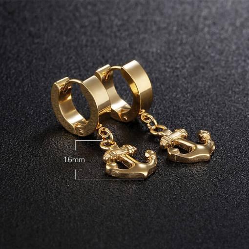 boucles oreilles ancre acier inoxydable dimensions