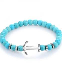 Bracelet Ancre marine en pierre naturelle assemble