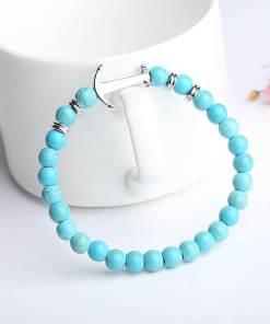 Bracelet Ancre marine en pierre naturelle