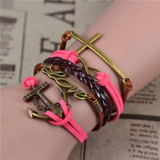 Bracelet de charme vintage multicouche modèle 6