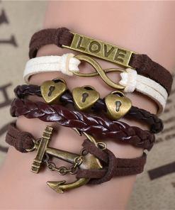Bracelet de charme vintage multicouche modèle 9