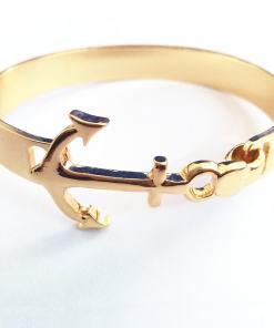Bracelet de motif Ancre 3 couleurs or