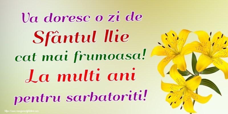 Felicitari de Sfantul Ilie - Va doresc o zi de Sfântul Ilie cat ...