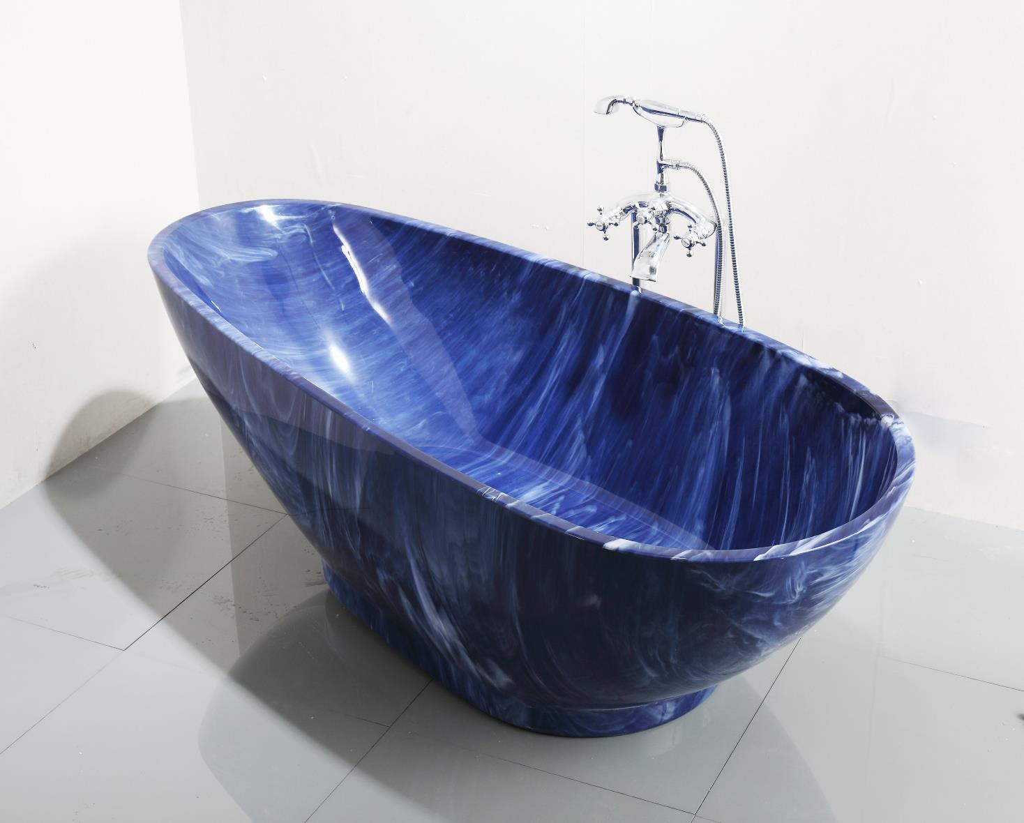 China 2017 Luxury Blue Cloudy Irregular Acrylic Free