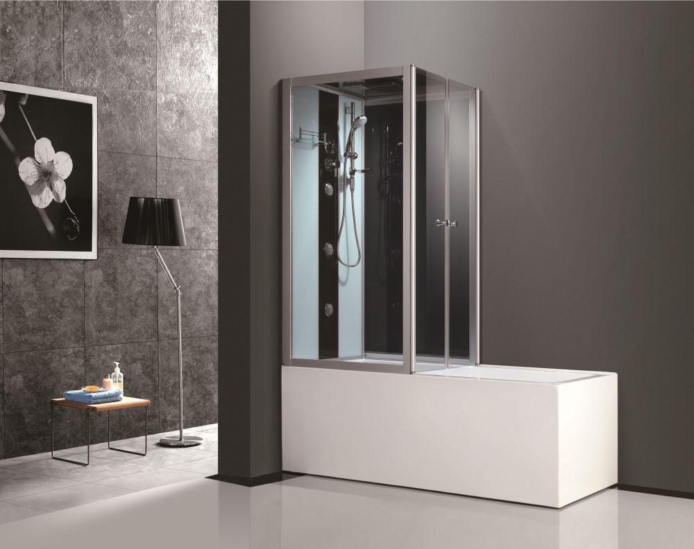 China 2017 New Modern Design Acrylic Glass Corner Tub