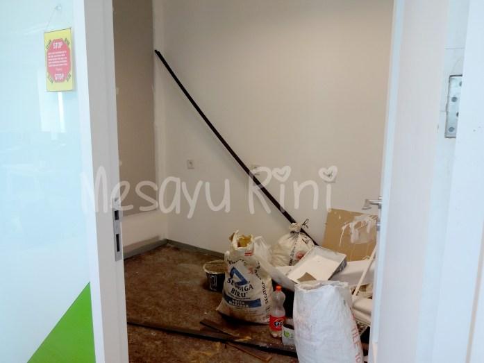 Proses Renovasi Ruang Laktasi