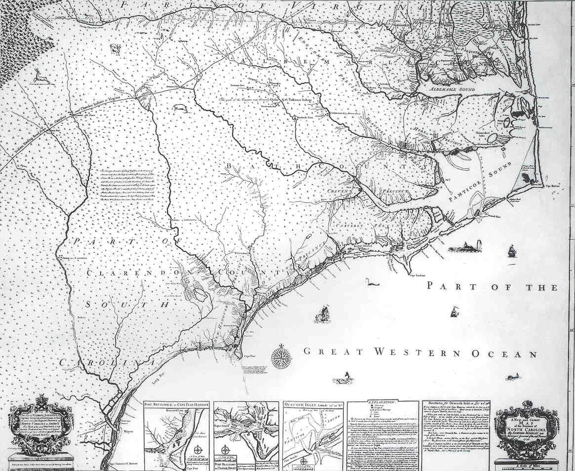 A New And Correct Map Of The Province Of North Carolina