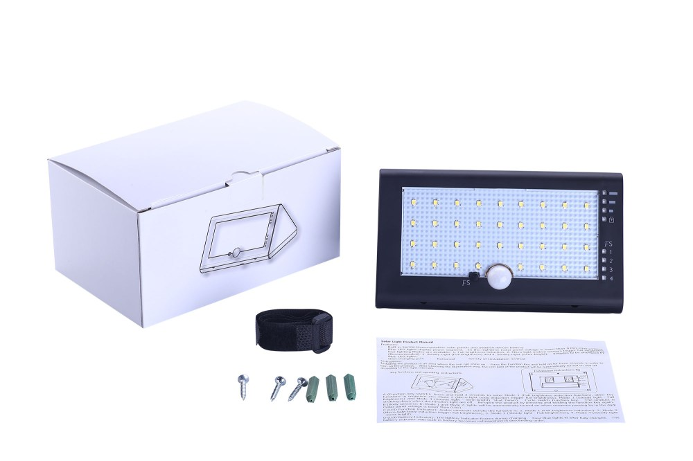 medium resolution of 35pcs led outdoor wireless solar powered pir motion sensor security lamp