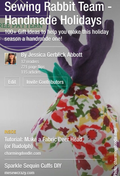 The Sewing Rabbit Team's Handmade Holidays Magazine, with 100+ Sewing Patterns & Tutorials to get your inspired this holiday season!