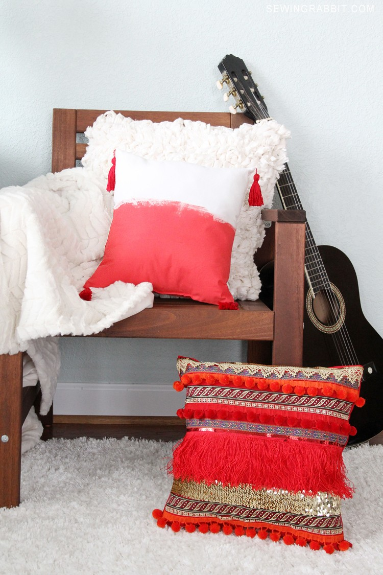 Bohemian Tassel Pillow DIY  The Sewing Rabbit