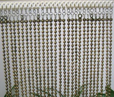 ball chain curtain as curtain for