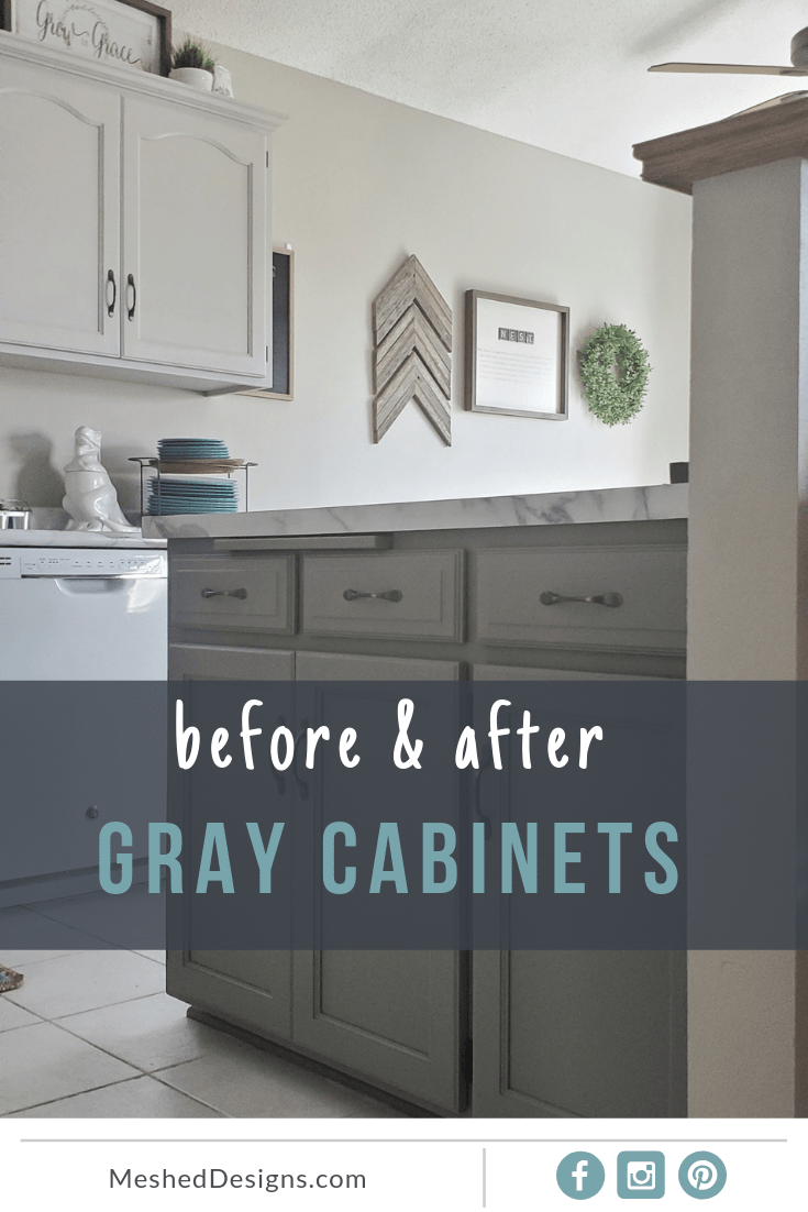 Two Tone Gray Cabinets 8th Avenue Kitchen Mesheddesigns