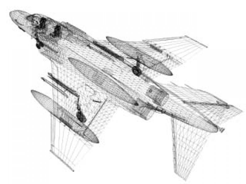 F-4N Phantom II (VF-151) 3d Model by Mesh Factory