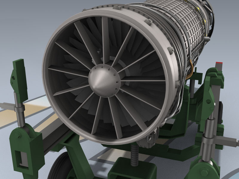 GE F 110 129 Engine 3d Model By Mesh Factory