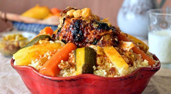 Couscous au poulet & aux légumes   Le Blog cuisine de Samar