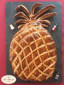 Galette des rois frangipane ananas caramélisé