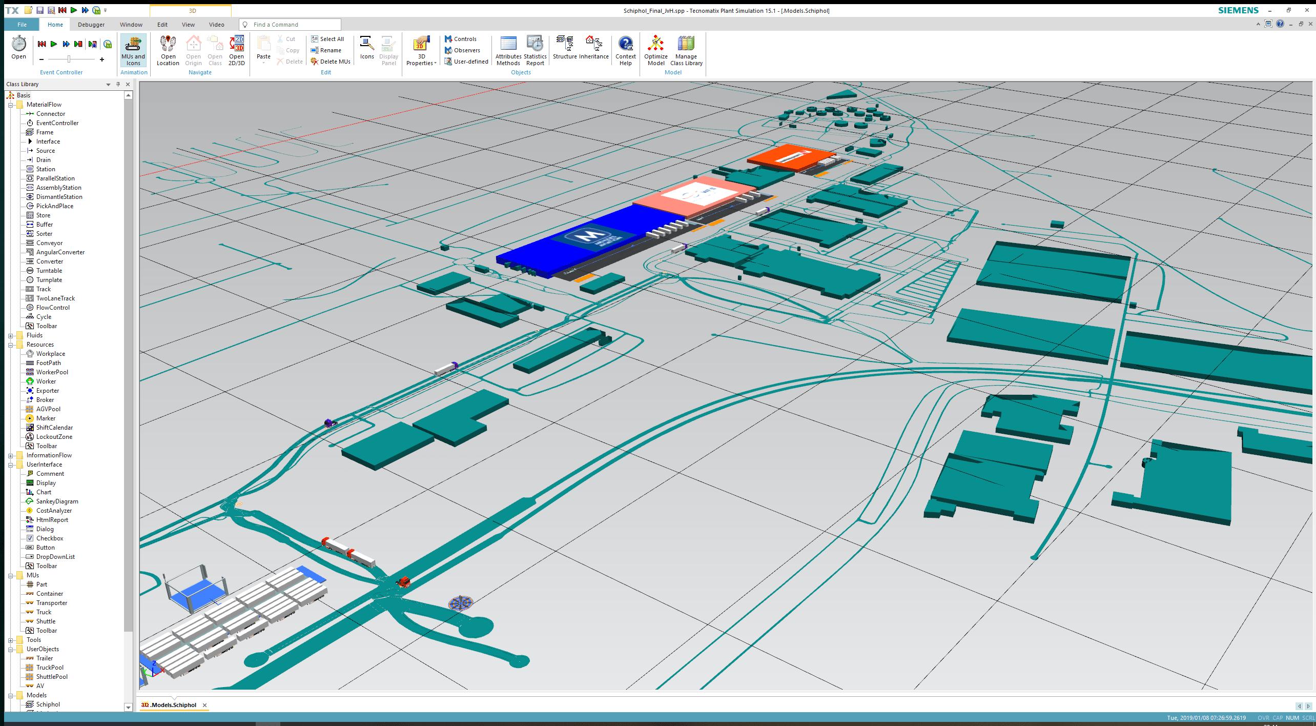 Project CATALYST: Simulation Schiphol