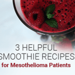 3 helpful smoothie recipes for mesothelioma patients mesotheliomaguideimage of glass with smoothie and fruit in it fruit around the bottom of the