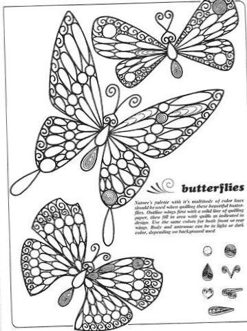 de papillon en quilling gabarit