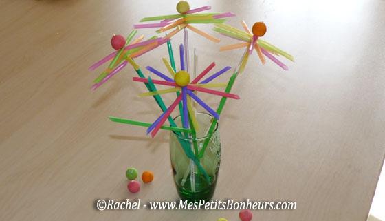 fleurs en pailles pour un bouquet original