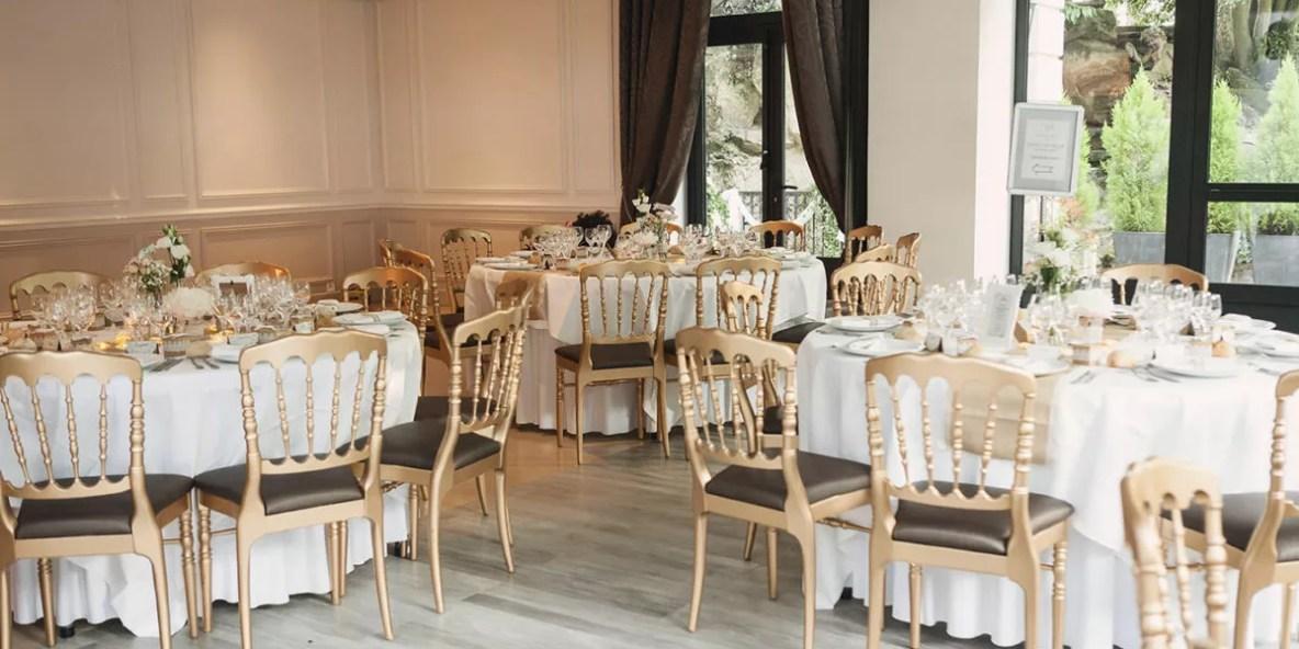 détails table mariage château de Gency à Cergy pontoise