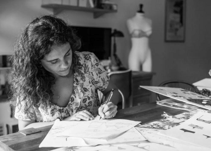 portrait Anne Magali Lestin studio création lingeire swimwear paris