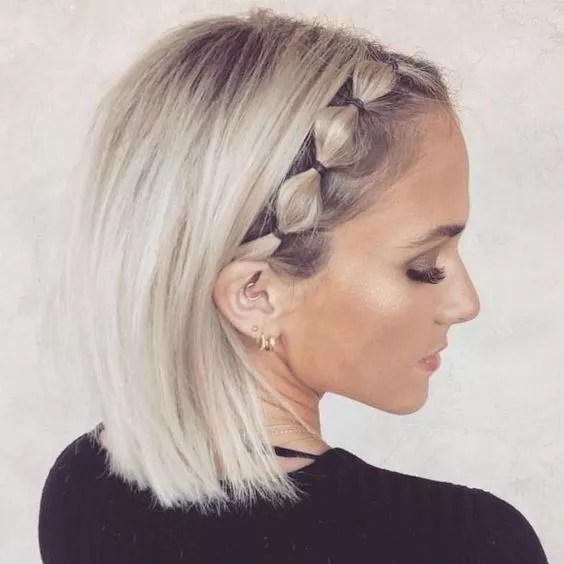 coiffure sur cheveux blond court