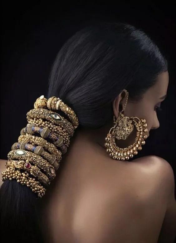 bijoux indien dans les cheveux