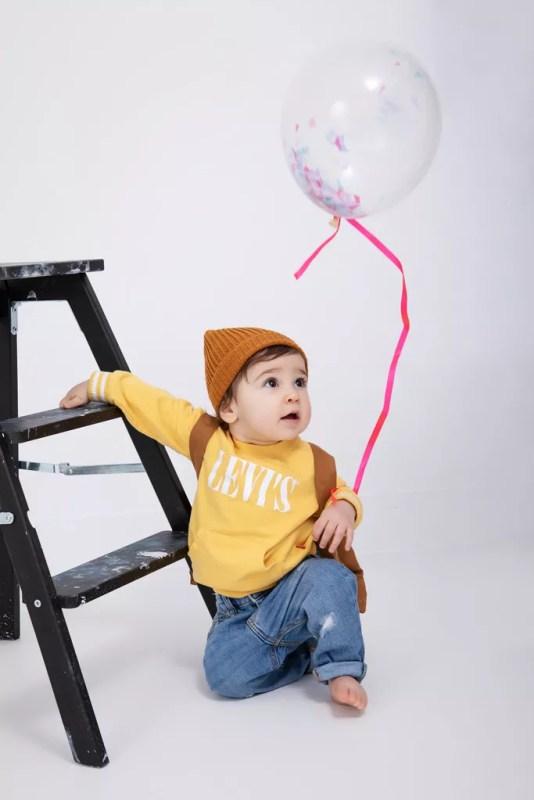 bébé ballon pour séance photo anniversaire bébé 1 an