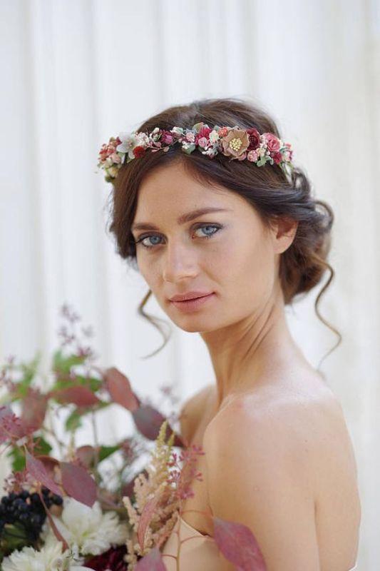 idees accessoires photo grossesse couronne fleurs