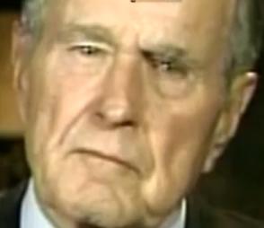 Bush et ses yeux retiliens