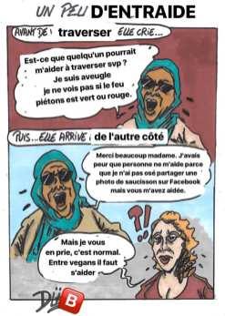Duf dessinateur Femme Musulmane Islam aveugle