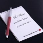 Lettre d'amour a la suite d'un coup de foudre