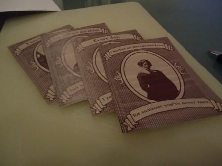 Her er de fire kortene skåret løs. Nå er det bare et steg som gjenstår!