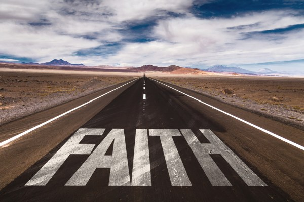 Road with Faith written on it