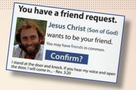 Jesus Friended on facebook